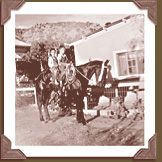 Casa Chimayo ancestors as children on horseback in Chimayo, NM